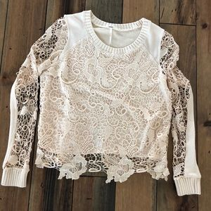 Free People Lace Top 🖤 size Small